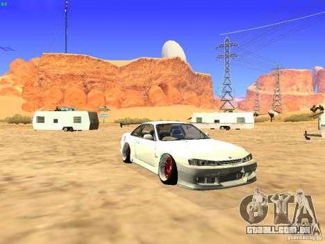 Nissan Silvia S14 JDM para GTA San Andreas vista traseira