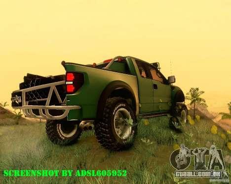 Ford F150 2011 SVT RapTor para GTA San Andreas esquerda vista