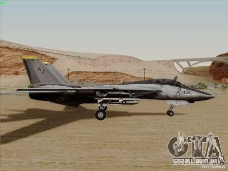 F-14 Tomcat Warwolf para GTA San Andreas traseira esquerda vista