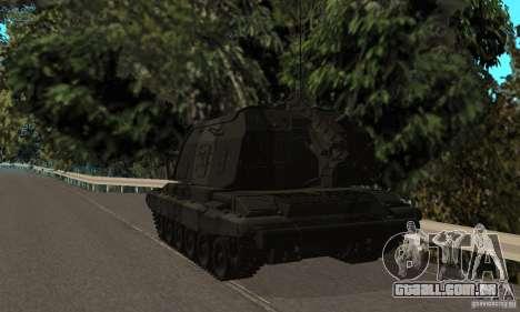 2S19 Msta-s, versão standard para GTA San Andreas vista direita
