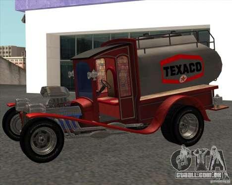 Ford model T 1923 Ice cream truck para GTA San Andreas traseira esquerda vista