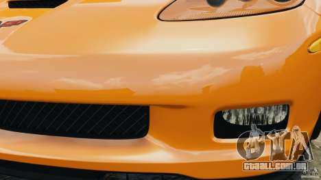 Chevrolet Corvette C6 Grand Sport 2010 para GTA 4 vista inferior