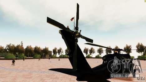 MH-60K Black Hawk para GTA 4 traseira esquerda vista