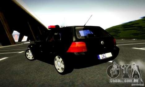Volkswagen Golf Police para GTA San Andreas esquerda vista