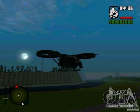 SA-2 Samson para GTA San Andreas esquerda vista