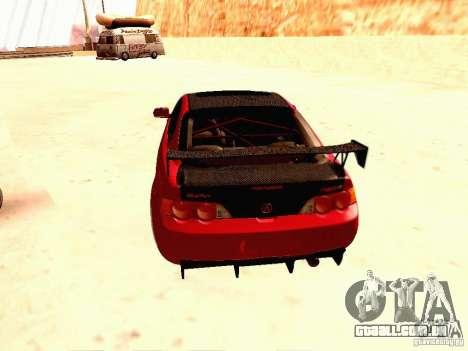 Acura RSX Drift para GTA San Andreas traseira esquerda vista