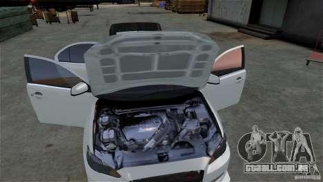 Mitsubishi Lancer Evo X para GTA 4 vista interior