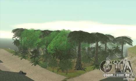 Ilha tropical para GTA San Andreas por diante tela