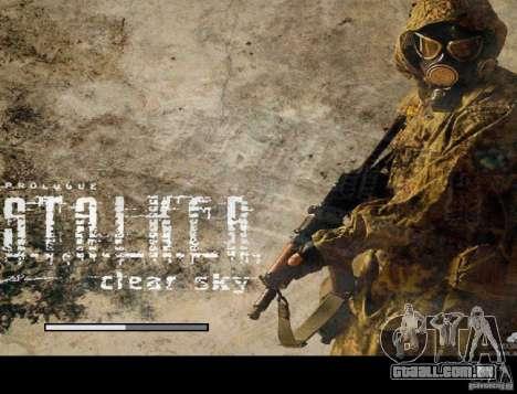 Nova tela de boot STALKER para GTA San Andreas quinto tela