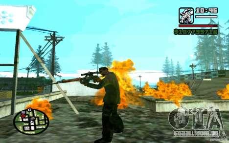 Dragunov sniper rifle v 1.0 para GTA San Andreas por diante tela