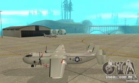 C-2 Greyhound para GTA San Andreas esquerda vista