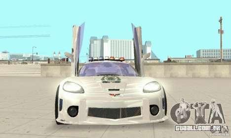 Chevrolet Corvette C6 polícia Sargento Cruz NFSM para GTA San Andreas vista traseira