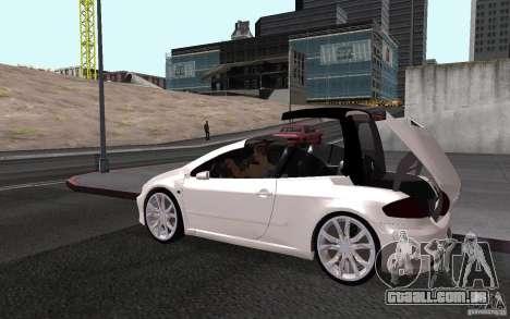 Peugeot 307CC BMS para GTA San Andreas vista interior