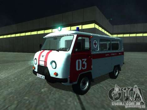 UAZ 3962 ambulância para GTA San Andreas esquerda vista