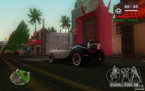 Bugatti Veyron 16.4 Grand Sport Sang Bleu para GTA San Andreas vista direita
