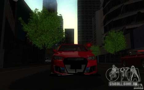 Mitsubishi Lancer EVO X drift Tune para GTA San Andreas vista direita