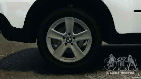 BMW X5 xDrive35d para GTA 4 vista superior
