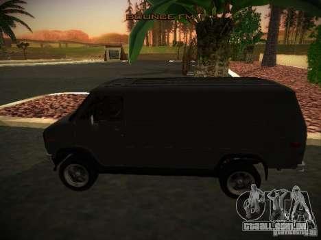 GMC Vandura para GTA San Andreas esquerda vista