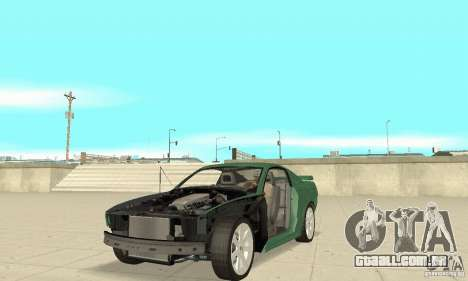 Saleen S281 v2 para GTA San Andreas vista superior
