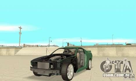 Saleen S281 v2 para GTA San Andreas vista superior