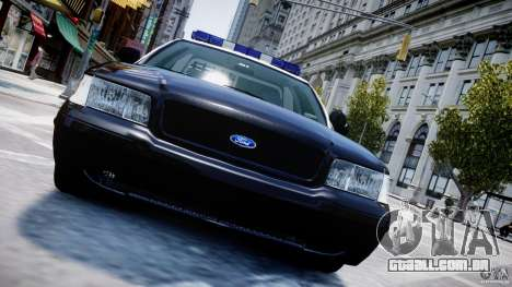 Ford Crown Victoria Massachusetts Police [ELS] para GTA 4 motor