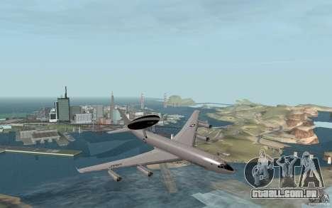 Boeing E-3 Sentry para GTA San Andreas vista direita