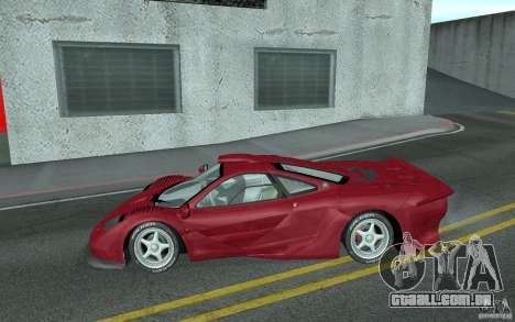 Mclaren F1 GT (v1.0.0) para GTA San Andreas esquerda vista