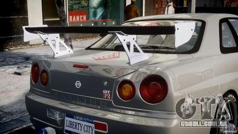 Nissan Skyline R34 Nismo para GTA 4 rodas