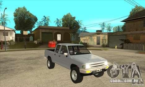 Toyota Hilux CD para GTA San Andreas vista traseira