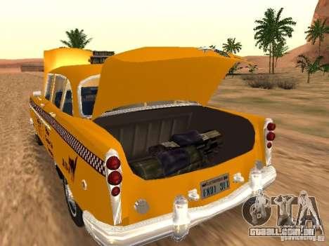 Checker Marathon Yellow CAB para GTA San Andreas traseira esquerda vista