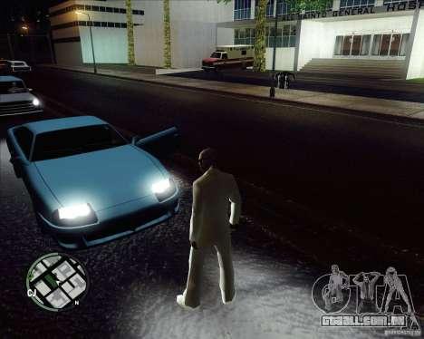 Traje branco para GTA San Andreas por diante tela