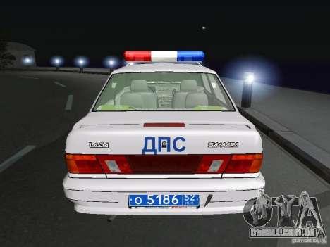 VAZ 2115 polícia DPS para GTA San Andreas traseira esquerda vista