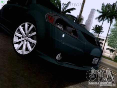 Suzuki SX4 Sportback 2011 para GTA San Andreas vista superior