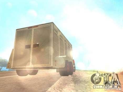 Trailer para o Chevrolet Silverado 2012 para GTA San Andreas vista traseira