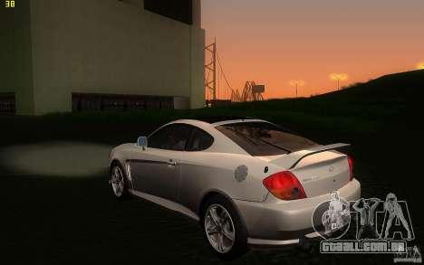 Hyundai Tiburon V6 Coupe 2003 para GTA San Andreas traseira esquerda vista