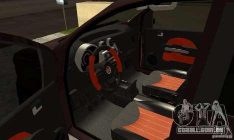 Fiat Novo Uno Sporting para GTA San Andreas vista traseira