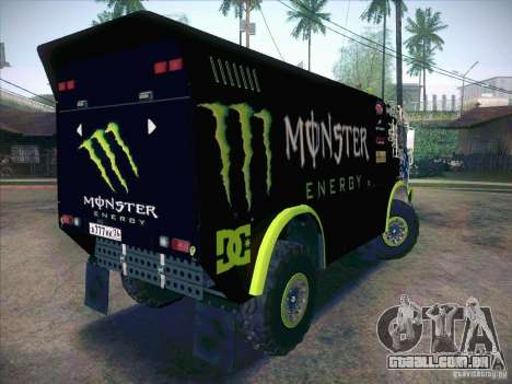 KAMAZ Master 4911 Monster Energy para GTA San Andreas vista direita