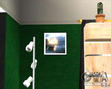 New Interior of CJs House para GTA San Andreas terceira tela