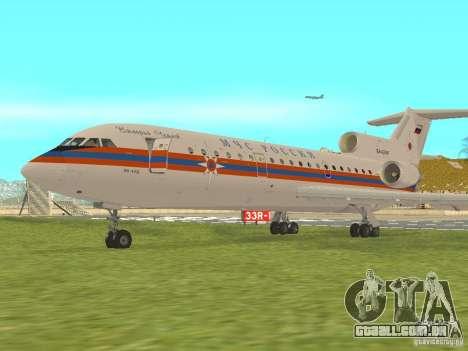 Yak-42 EMERCOM da Rússia para GTA San Andreas esquerda vista