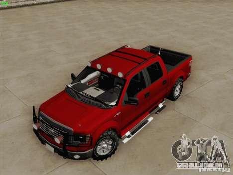 Ford F-150 para GTA San Andreas vista traseira