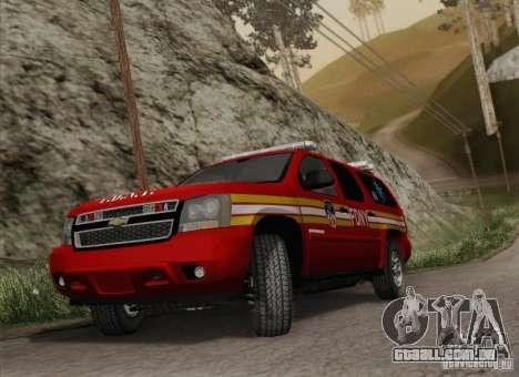Chevrolet Suburban EMS Supervisor 862 para GTA San Andreas vista traseira