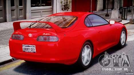 Toyota Supra MKIV 1995 v2.0 Final para GTA 4 vista direita