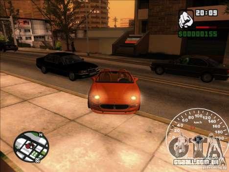 Spyder Cambriocorsa para vista lateral GTA San Andreas