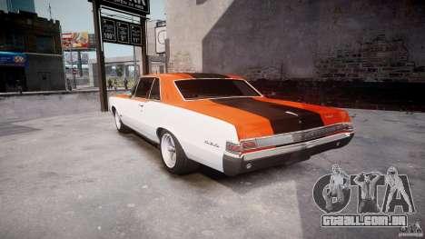 Pontiac GTO 1965 v3.0 para GTA 4 traseira esquerda vista