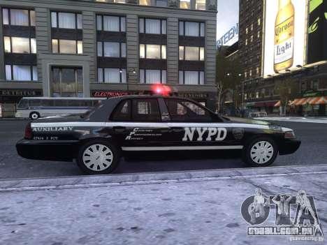 Ford Crown Victoria NYPD Auxiliary para GTA 4 traseira esquerda vista