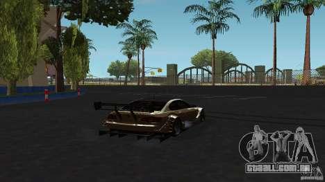 BMW E92 M3 para GTA San Andreas traseira esquerda vista