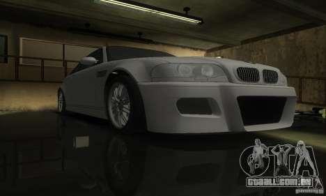 BMW M3 Tuneable para GTA San Andreas vista traseira