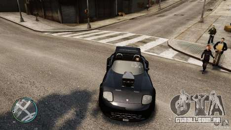 Blue Neon Banshee para GTA 4 vista direita
