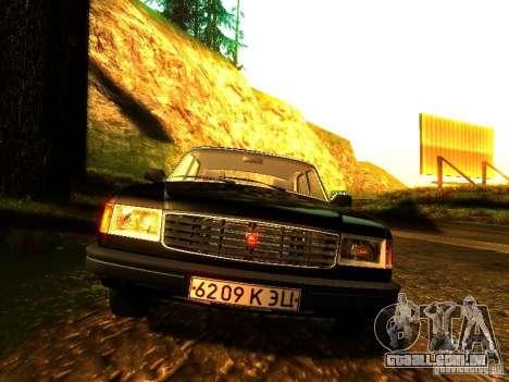 Volga GAZ 31029 para GTA San Andreas vista interior