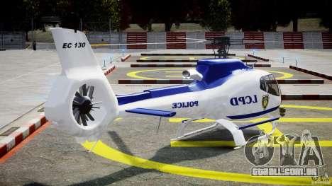 Eurocopter EC 130 LCPD para GTA 4 vista lateral